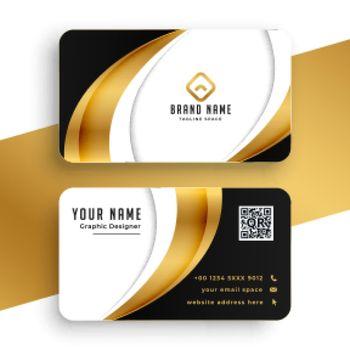 golden business card premium template