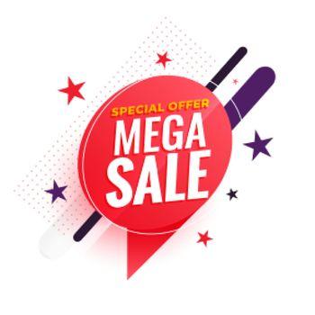mega sale modern banner for business promotion