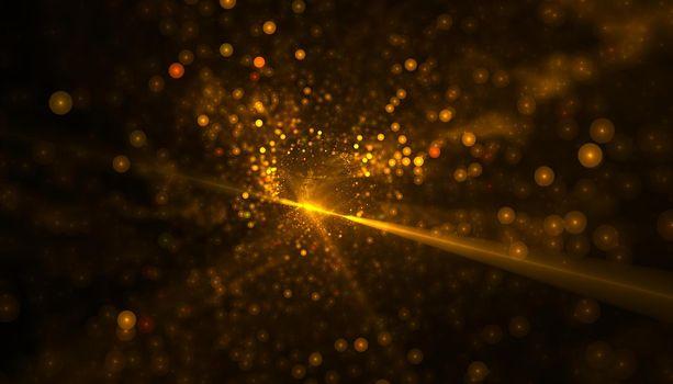 glittering bokeh golden background design