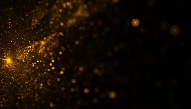 golden particle dust bursting background