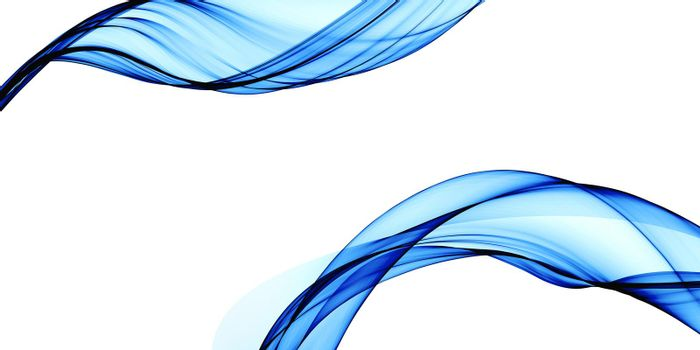 abstract blue smooth lines background