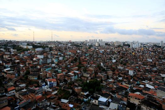 slum dwellings in the city of Salvador