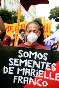 Protest against President Jair bolsonaro