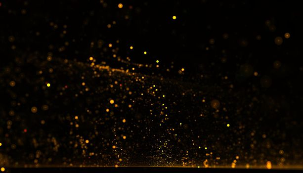 dynamic golden particle flowing dust background