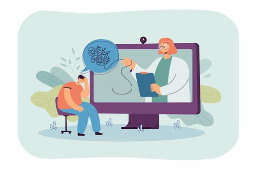 Online consultation with psychologist