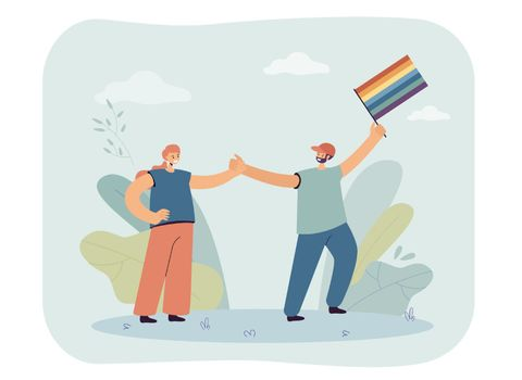 Happy couple supporting LGBT community
