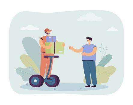 Man delivering goods vector illustration
