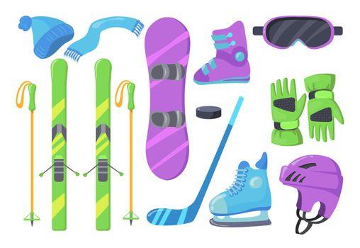 Set of winter sports equipment