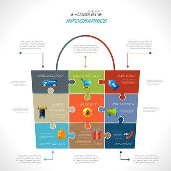 E-commerce Polygonal Infographics