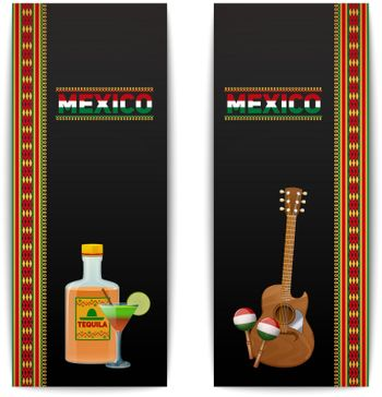 Mexican Banners Vertical