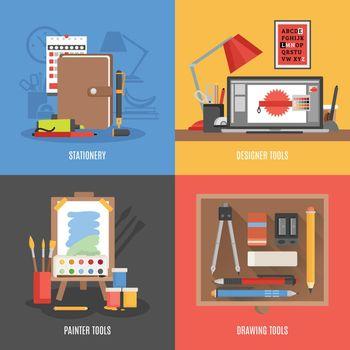 Drawing Tools Icon Set