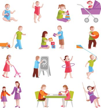 Children Characters Set