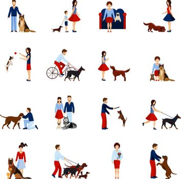 People With Dogs Set