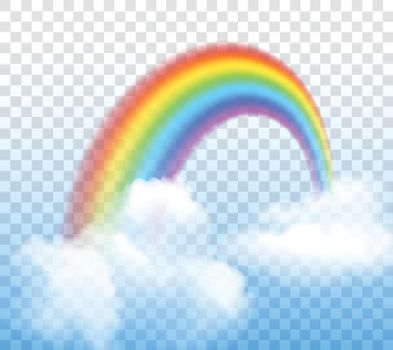 Rainbow With Clouds Transparent