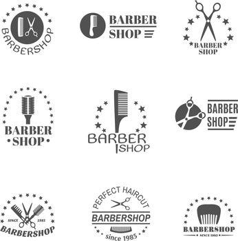 Barber Shop Label Set
