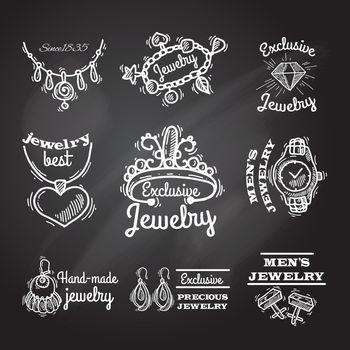 Jewelry Chalkboard Emblems