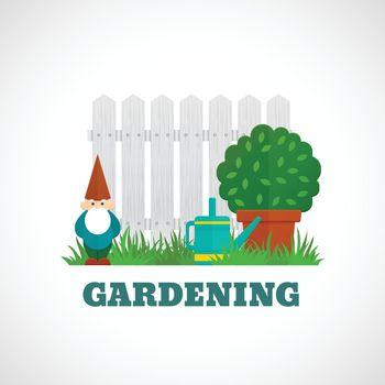 Gardening Poster Flat