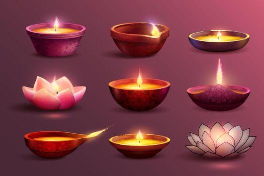 Diwali Festive Candles Set