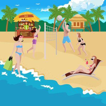 Coastline Sports Recreation Background
