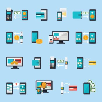 Mobile Commerce Icon Set