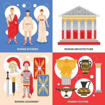 Ancient Rome Flat Concept