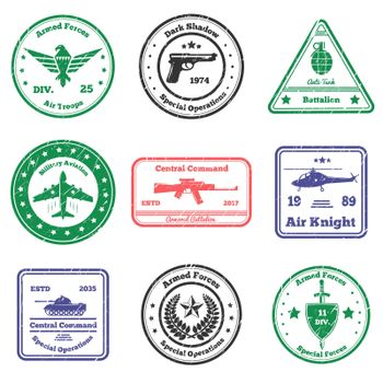 Military Insignia Stamps Set