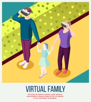 Virtual Family Isometric Background