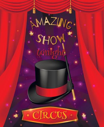 Amazing Circus Poster Composition