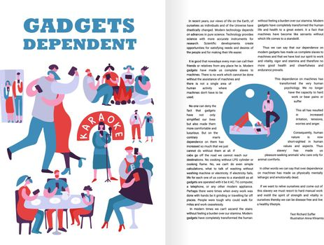 Gadgets Dependent Infographics Layout