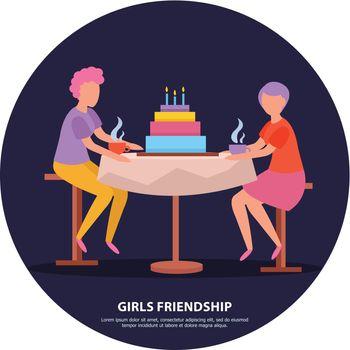 Girls Friendship Orthogonal Background