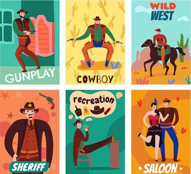 Flat Wild West Cards