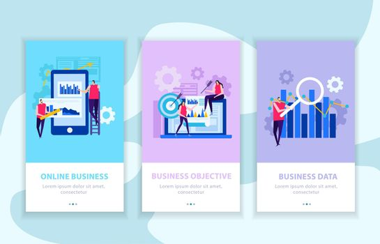 Business Analysis Flat Banners