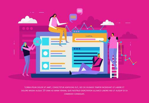 Application Design Background Concept