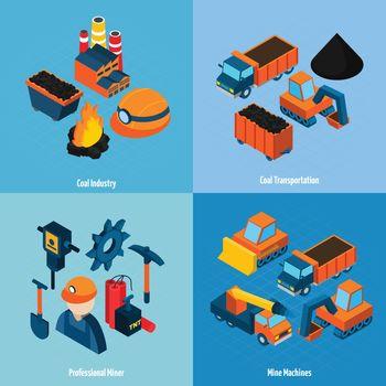 Coal Industry Isometric