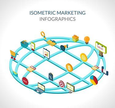 Marketing Isometric Infographics