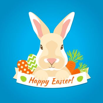 Rabbit Easter Label