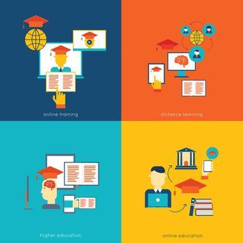 Online education flat