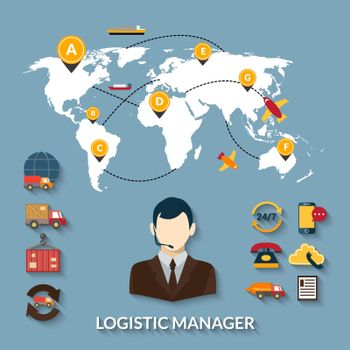 Logistic Manager Infographics