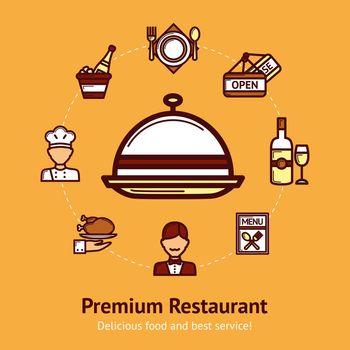 Restaurant Concept Illustration