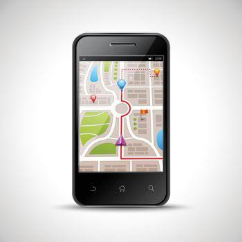 Smartphone Navigation Illustration