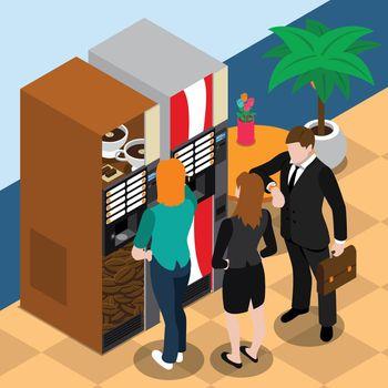 Coffee Vending Machine Illustration
