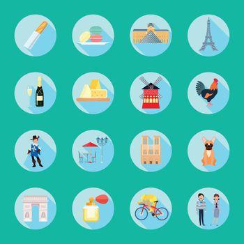 France Round Icons Set