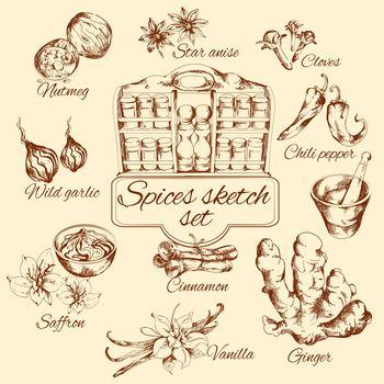 Spices Sketch Set