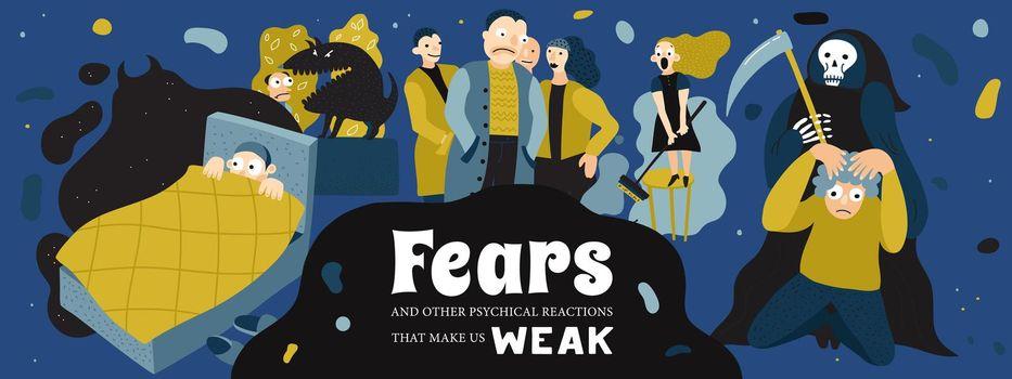 Human Fears Illustration