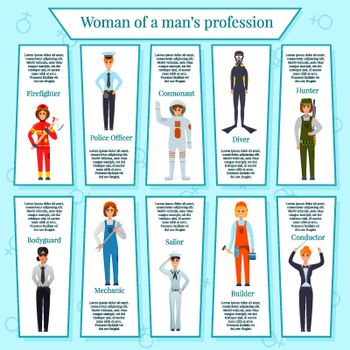 Woman Professions Infographics