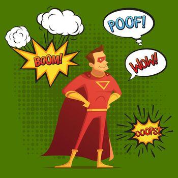 Super Hero Composition Comic Style