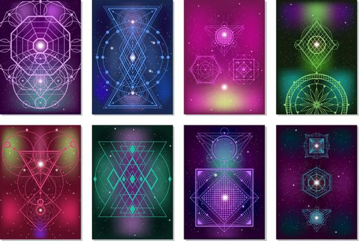 Sacred Geometry Colorful Banners Collection