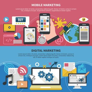 Mobile Marketing Horizontal Banners