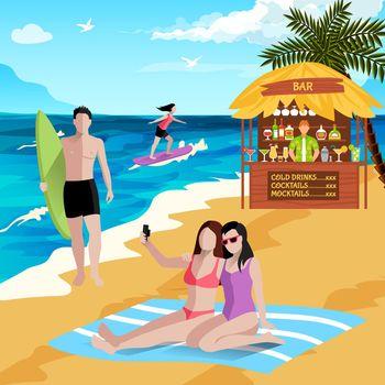 Holidays At Seaside Background