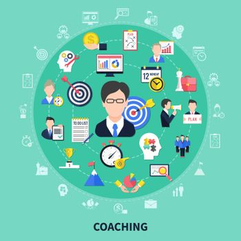 Coaching And Training Concept Illustration